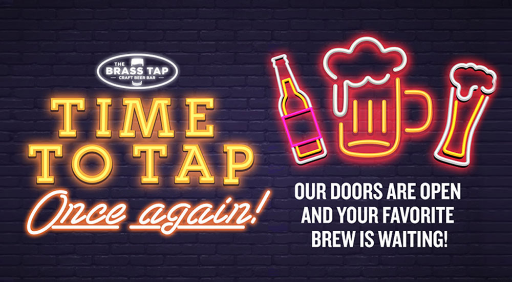 Time to tap once again! Our doors are open and your favorite brew is waiting!
