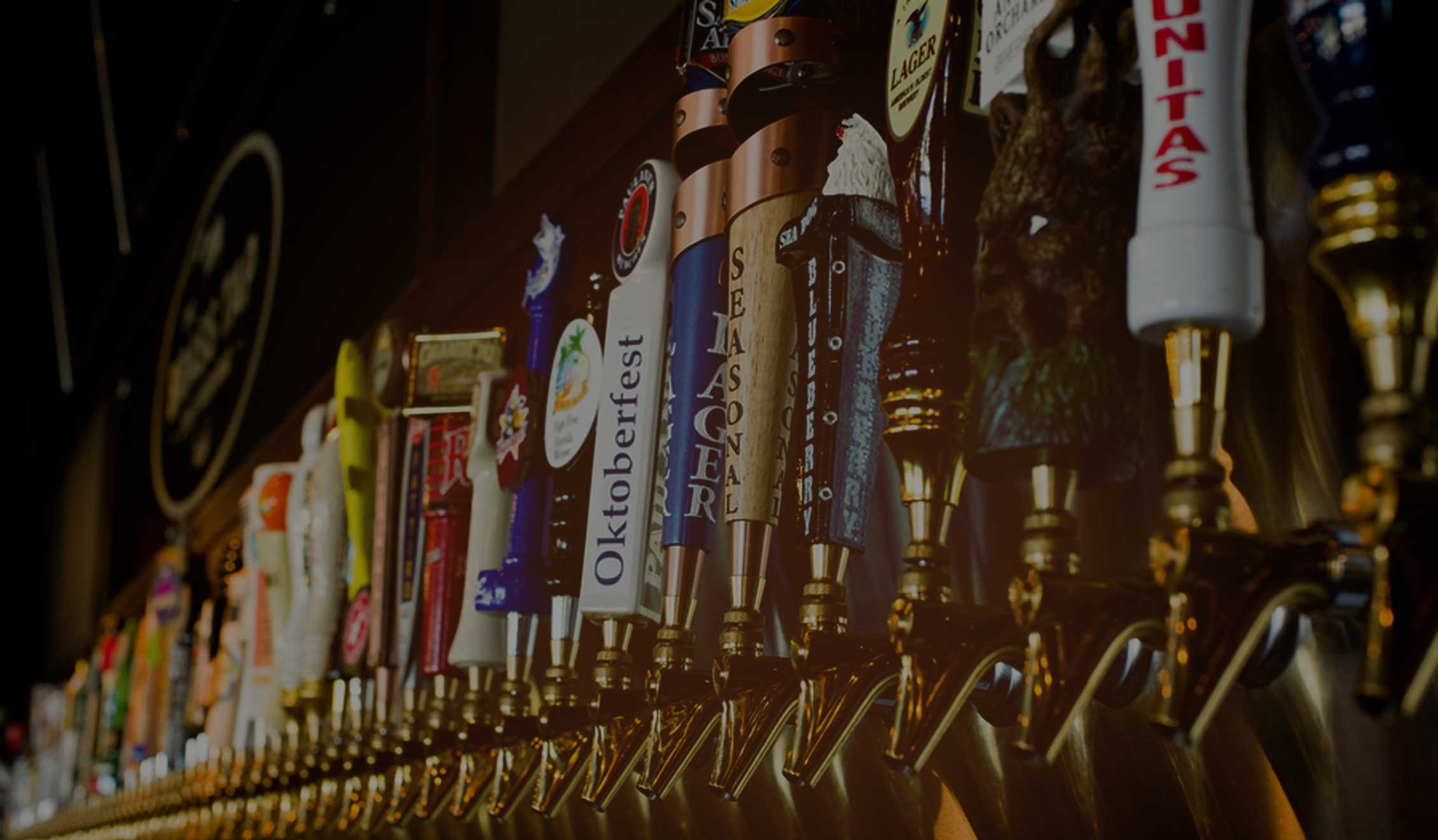 We offer a huge selection of craft beers