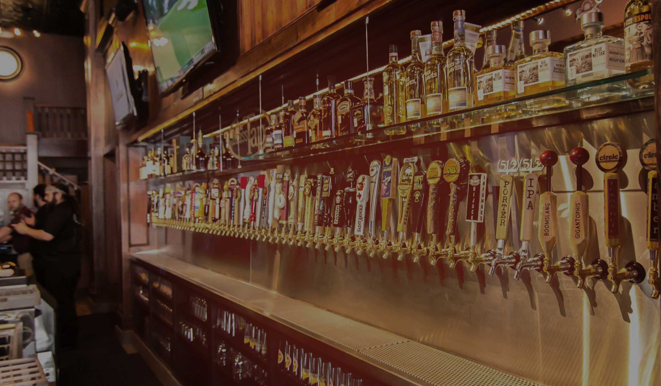 Hundreds of taps, including specialty and local beers